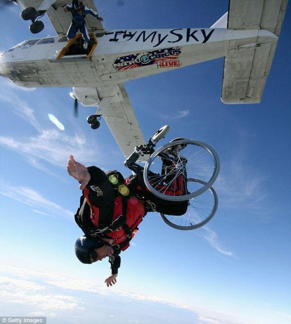wheelchair skydive