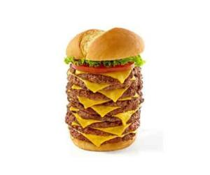 nine pattie burger