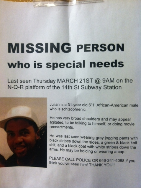 Disabled Teen Missing Posters On The Subway Ask For Your Help