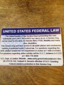 ada service dog law