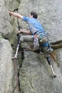 amputee climbing 1